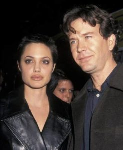 Angelina Jolie with Timothy Hutton