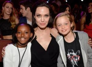 Angelina Jolie with her Daughters