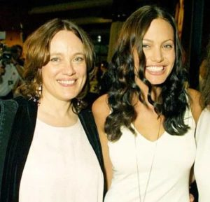 Angelina Jolie with her Mother