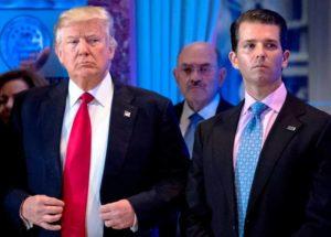 Donald Trump with Donald Trump Jr.