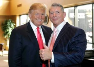 Donald Trump with Vince McMahon