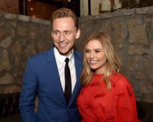 Tom Hiddleston with Elizabeth Olsen