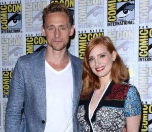 Tom Hiddleston with Jessica Chastain