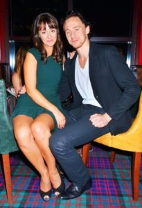 Tom Hiddleston with Susannah Fielding