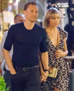 Tom Hiddleston with Taylor Swift