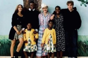 Madonna with her Kids