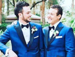 Anthony as groomsman on Kris wedding