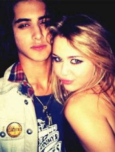 Avan Jogia with Miley Cyrus
