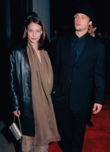 Brad Pitt with Claire Forlani