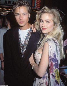 Brad Pitt with Christina Applegate