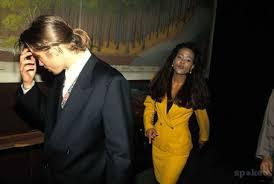 Brad Pitt with Robin Givens
