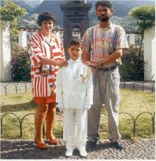 Cristiano Ronaldo with her Parents