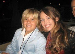 Dylan Sprouse with Miley Cyrus