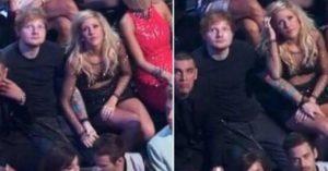 Ed Sheeran with Ellie Goulding