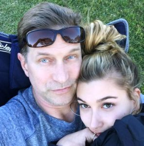 Hailey Baldwin with her Father
