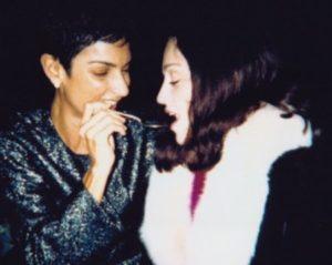Madonna with Ingrid Casares
