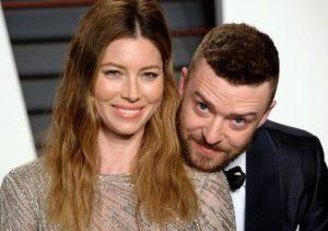 Justin Timberlake with Jessica Biel