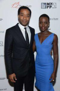 Lupita Nyong'o with Chiwetel Ejiofor