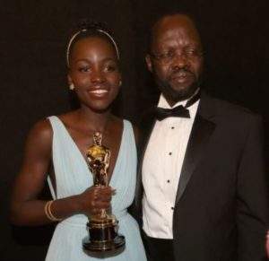 Lupita Nyong'o with her Father