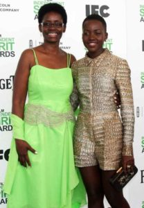Lupita Nyong'o with her Mother