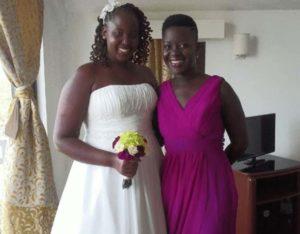 Lupita Nyong'o with her Sister
