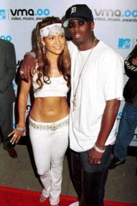 Jennifer Lopez with P Diddy