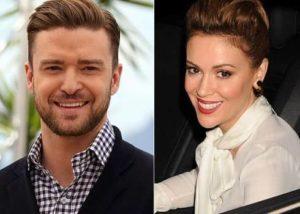 Justin Timberlake and Alyssa Milano