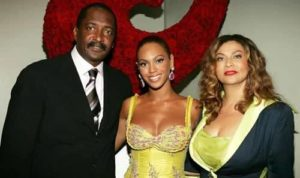 Beyonce with her Parents