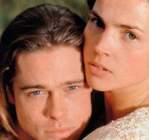 Brad Pitt with Julia Ormond
