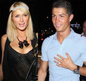 Cristiano Ronaldo with Paris Hilton