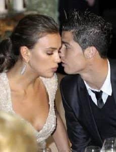 Cristiano Ronaldo with Kim Kardashian West