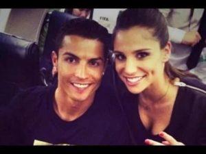 Cristiano Ronaldo with Lucia Villalon