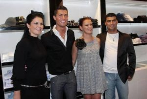 Cristiano Ronaldo with his Brother and Sister
