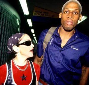 Madonna with Dennis Rodman