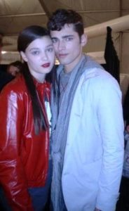 Sean O'Pry with Diana Moldovan
