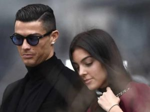 Cristiano Ronaldo with Georgina Rodriguez
