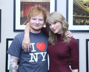 Ed Sheeran with Taylor Swift