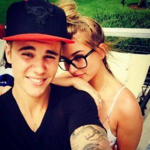 Hailey Baldwin with Justin Bieber