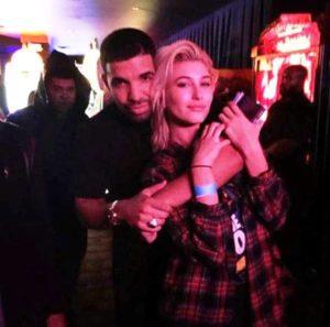 Hailey Baldwin with Drake