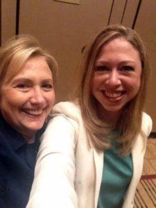 Hillary Clinton with Chelsea Clinton