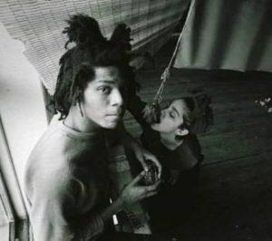 Madonna with Jean Michel Basquiat