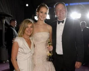 Jenifer Lawrence with her Parents