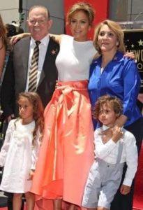 Jennifer Lopez with her Parents