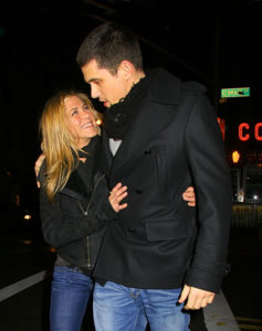 Jennifer Aniston with Paul Sculfor