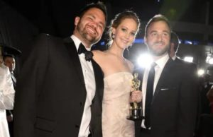 Jenifer Lawrence with her Brothers