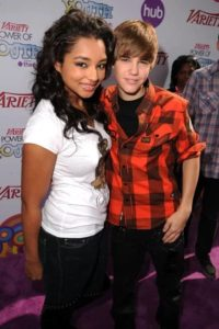 Justin Bieber with Jessica Jarrell