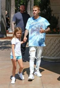 Justin Bieber with his Sister