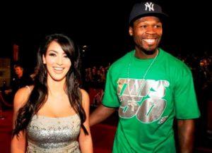 Kim Kardashian with 50 Cent