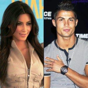 Kim Kardashian with Cristiano Ronaldo