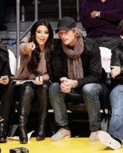 Kim Kardashian with Gabriel Aubry